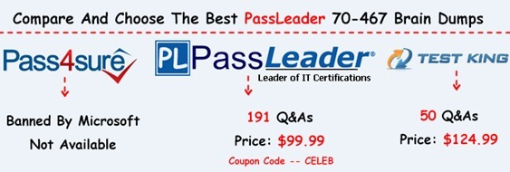 PassLeader 70-467 Brain Dumps[28]